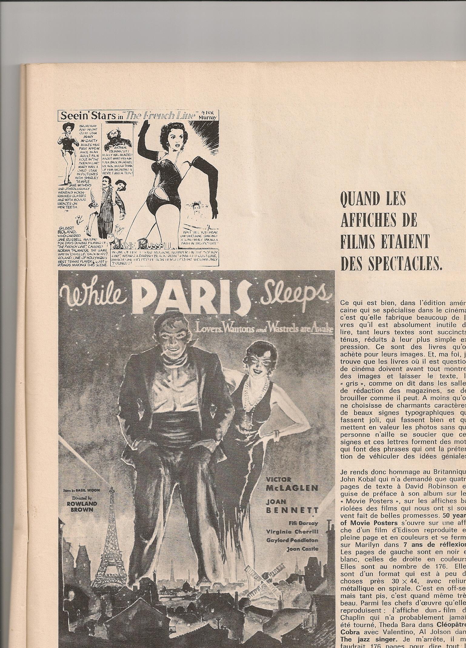 Rubrique de Michel Pérez - Charlie n°62 - Mars 1974