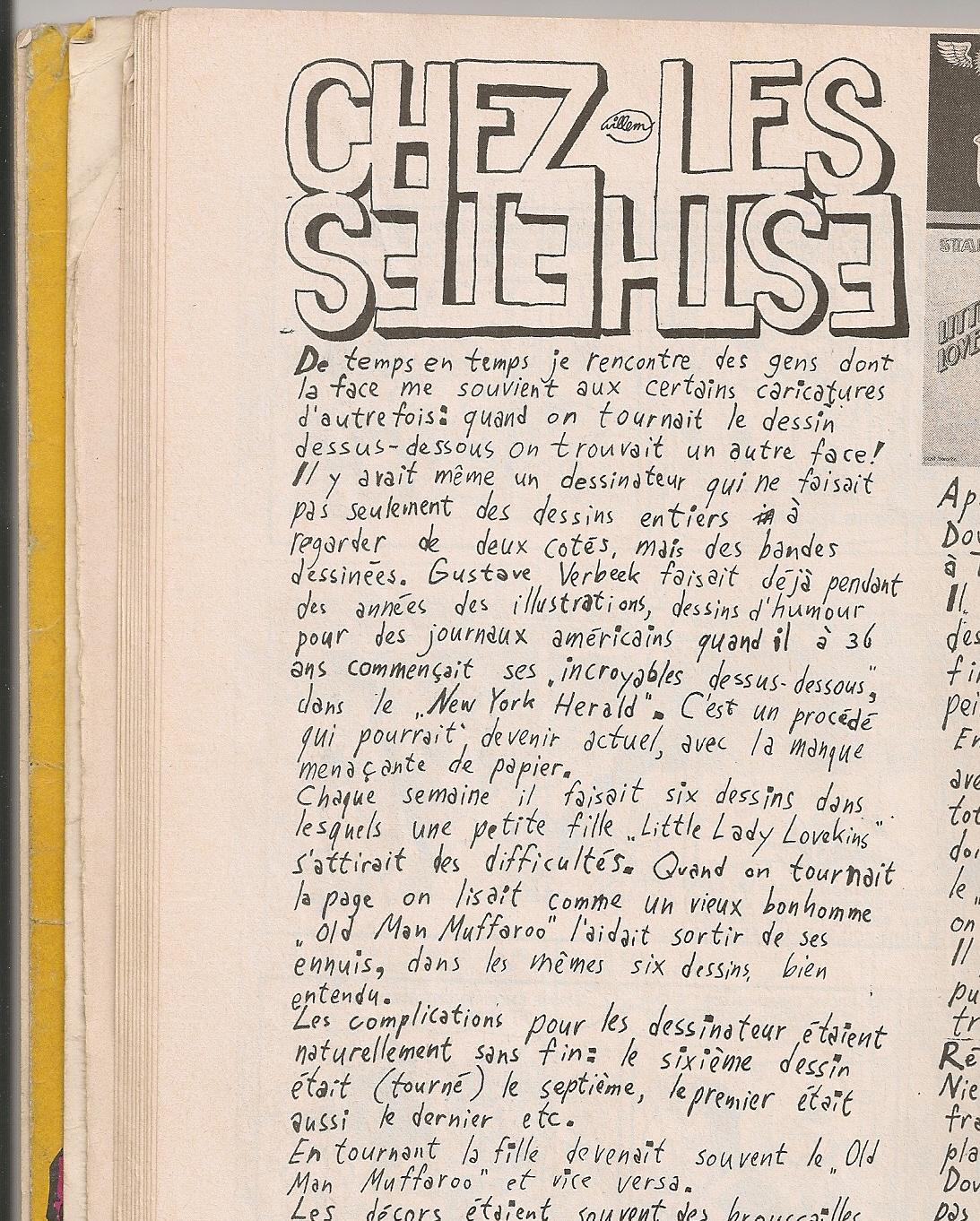 Rubrique de Willem (extrait) - Charlie n°59 - Décembre 1973